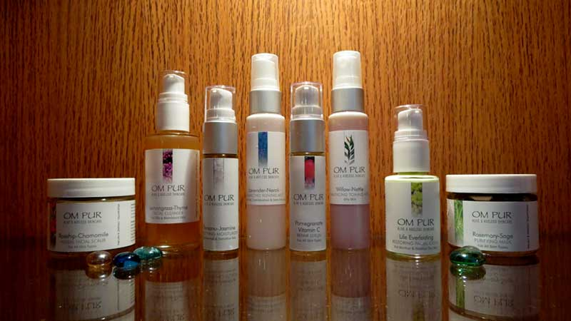 om pur organic skin care at island spirit spa kona